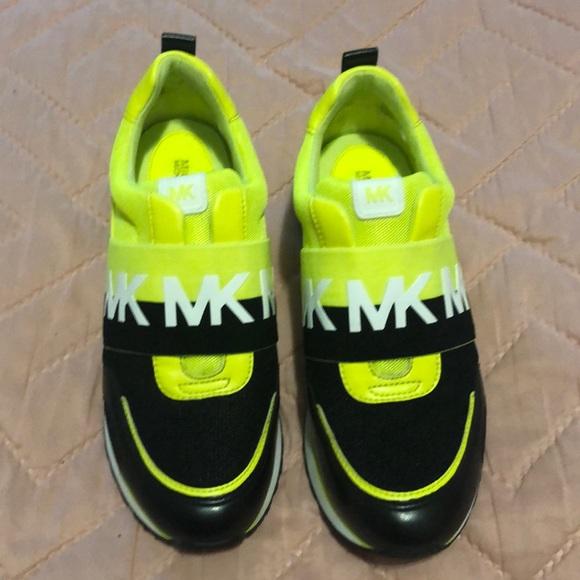 michael kors neon sneakers michael kors